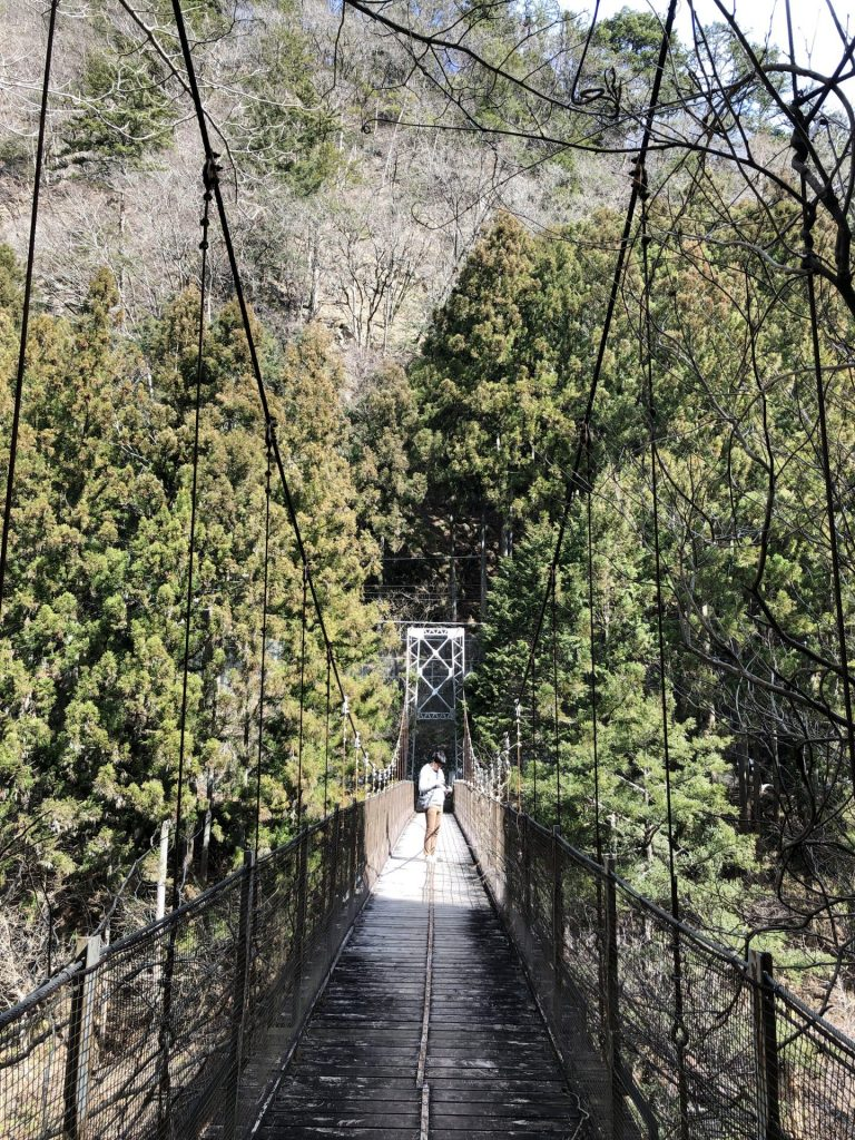 shidakura suspension bridge