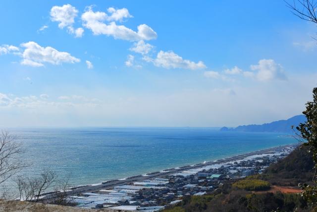 静岡県東照宮博物館前からの景色